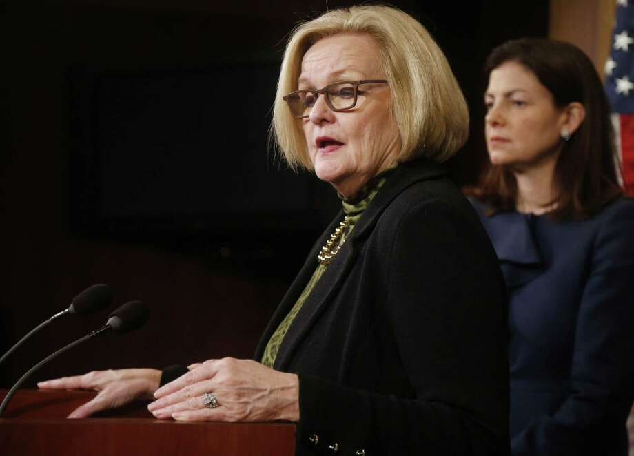 The decision means a bill by Sen. Claire McCaskill, D-Mo., that promises far-less-reaching reform is now set for a vote Monday. Photo: Associated Press / AP