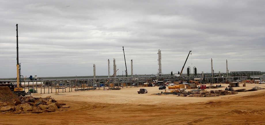 One site under construction is the Anadarko Brasada Gas Plant in La Salle County. It will process natural gas. Photo: Jerry Lara / San Antonio Express-News / ©2013 San Antonio Express-News
