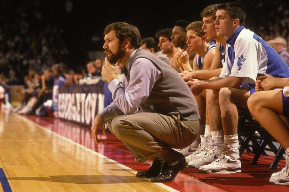 Before he got involved with drugs, Shaq's biological father, Joseph Toney, was offered a basketball scholarship to Seton Hall, where former Spurs assistant P.J. Carlesimo once coached. PHOTO: P.J. Carlesimo, head coach of the Seton Hall Pirates, during a college basketball game against the Georgetown Hoyas on Jan. 30, 1990 at USAir Arena in Landover, Md. Photo: Mitchell Layton, Getty Images