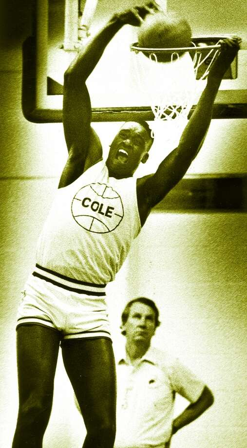 Shaq went to Cole High School on Fort Sam Houston while his stepfather, Phillip A. Harrison, an Army Reserve sergeant, was stationed there.PHOTO: Shaquille O'Neal dunks at a March 1989 practice in Cole High School Gym. Photo: San Antonio Express-News File Photo