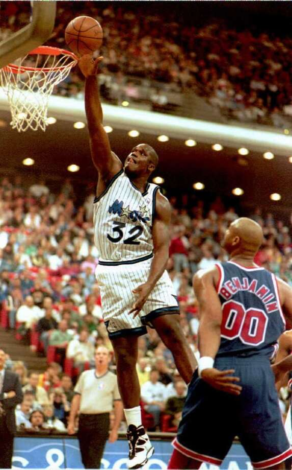 Shaq snagged his first career triple-double (24 points, 28 rebounds and 15 blocks) against the New Jersey Nets on Nov. 20, 1993.PHOTO: 