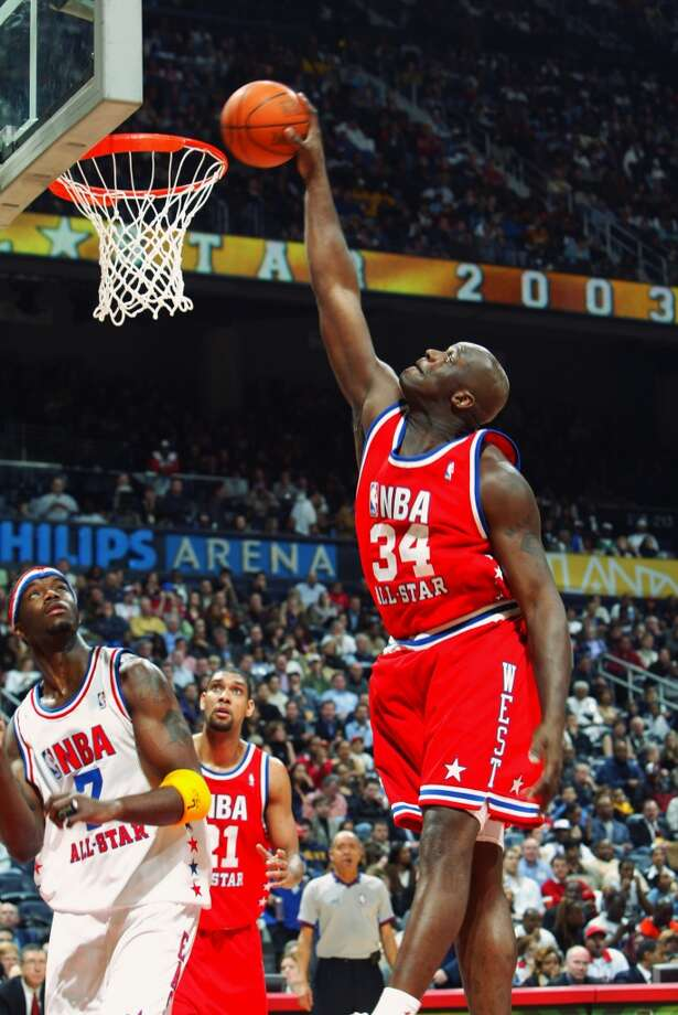 Shaq has played in 15 NBA All-Star games, tying in for third in appearances with Kevin Garnett. Only Kareem Abdul-Jabbar, who's played in 19 All-Star games, and Kobe Bryant, who's played in 16, have made more appearances.PHOTO: 