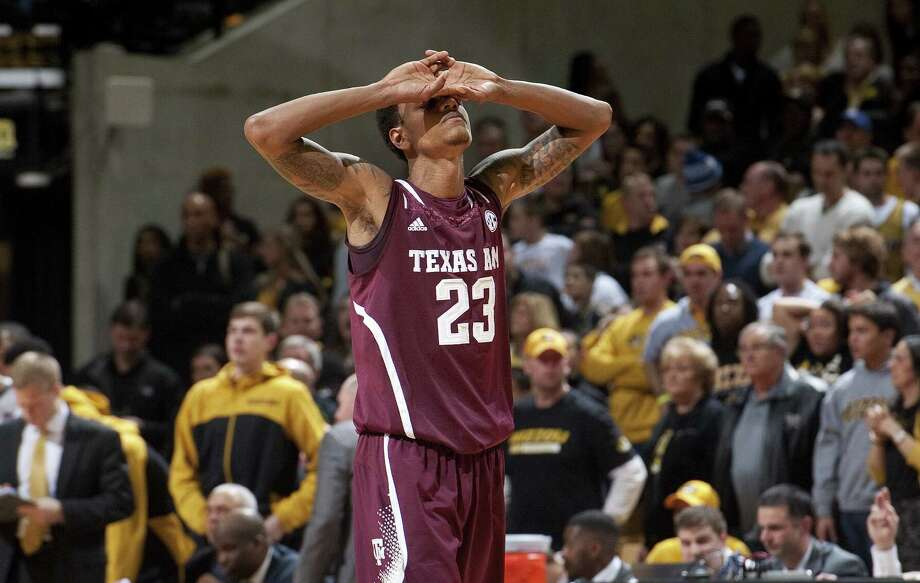 While the Texas A&M football team has found success in the Southeastern Conference, Jamal Jones and the basketball Aggies are in danger of missing out on the postseason yet again. Photo: L.G. Patterson / Associated Press / FR23535 AP