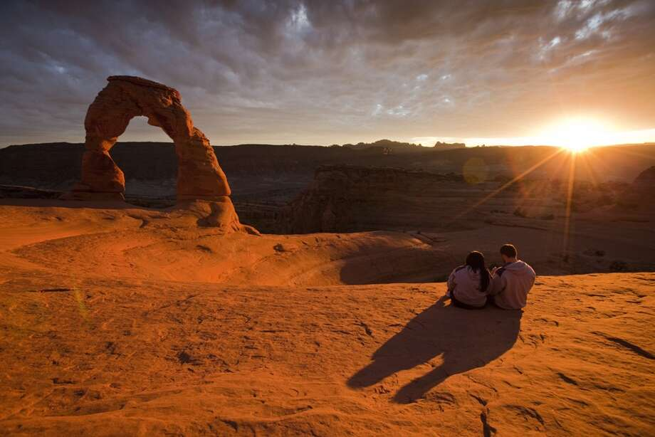 Catch a sunset at Arches National Park (Utah), home to more than 2,000 arches. Photo: Rob Zabrowski/, Shutterstock