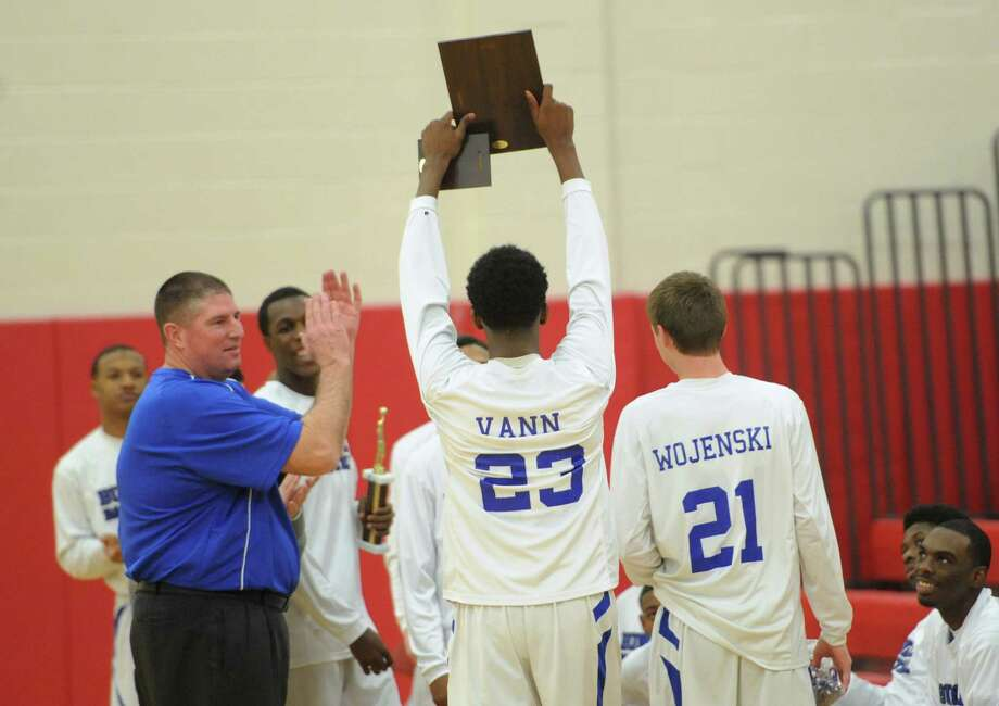 Photos from the SWC boys basketball championship game between No. 2 Bunnell and No. 5 Kolbe Cathedral at Pomperaug High School in Southbury, Conn. Thursday, March 6, 2014. Photo: Tyler Sizemore / The News-Times