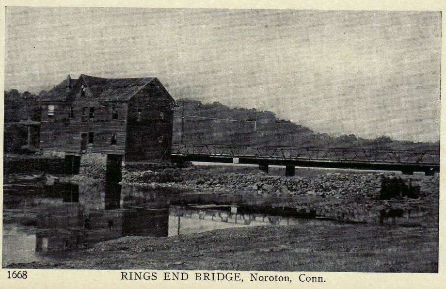 The mill at Rings End Landing was originally built in the early 1700s, and was destroyed by fire in the 1920s. Photo: Contributed Photo / Darien News