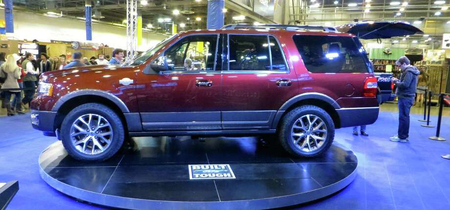 The 2015 Ford Expedition King Ranch on display at this month's Houston Livestock Show and Rodeo will come with an exclusive leather called premium mesa brown that has undergone minimal processing.
