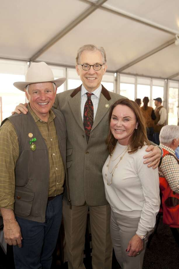John Kotts, Gary Tinterow and Colleen Kotts at MFAH's Fine Art of Shooting, March 1 2014 Photo: Jenny Antil