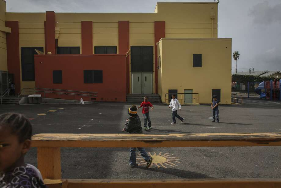 Children play in the school courtyard of Glenview Elementary in Oakland, one of the district's most popular and high-achieving elementary schools. Photo: Sam Wolson, Special To The Chronicle