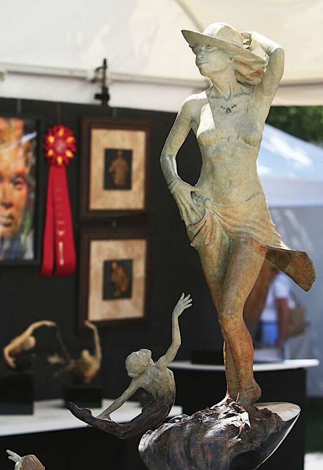 Wendy Salin's bronze sculpture is on display at the 2014 Indian Wells Arts Festival in the Coachella Valley. Photo: Indian Wells Arts Festival