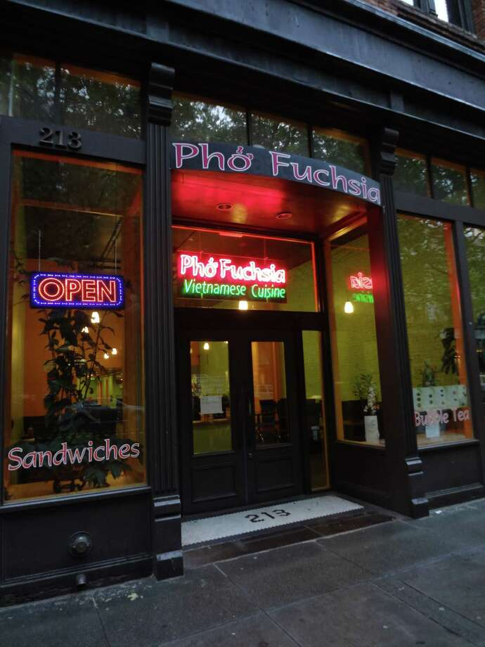 Quick and cheap lunchPho Fuchsia, 213 First Avenue South, Pioneer SquareA faithful customer reports that one can get a banh mi here for less than $5. Hello, thank you. Photo: Flickr Commons