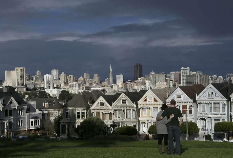 "The Painted Ladies of Alamo Square help with the key demographic that watched ""Full House"" as kids.  Photo: Jeff Chiu, Associated Press"