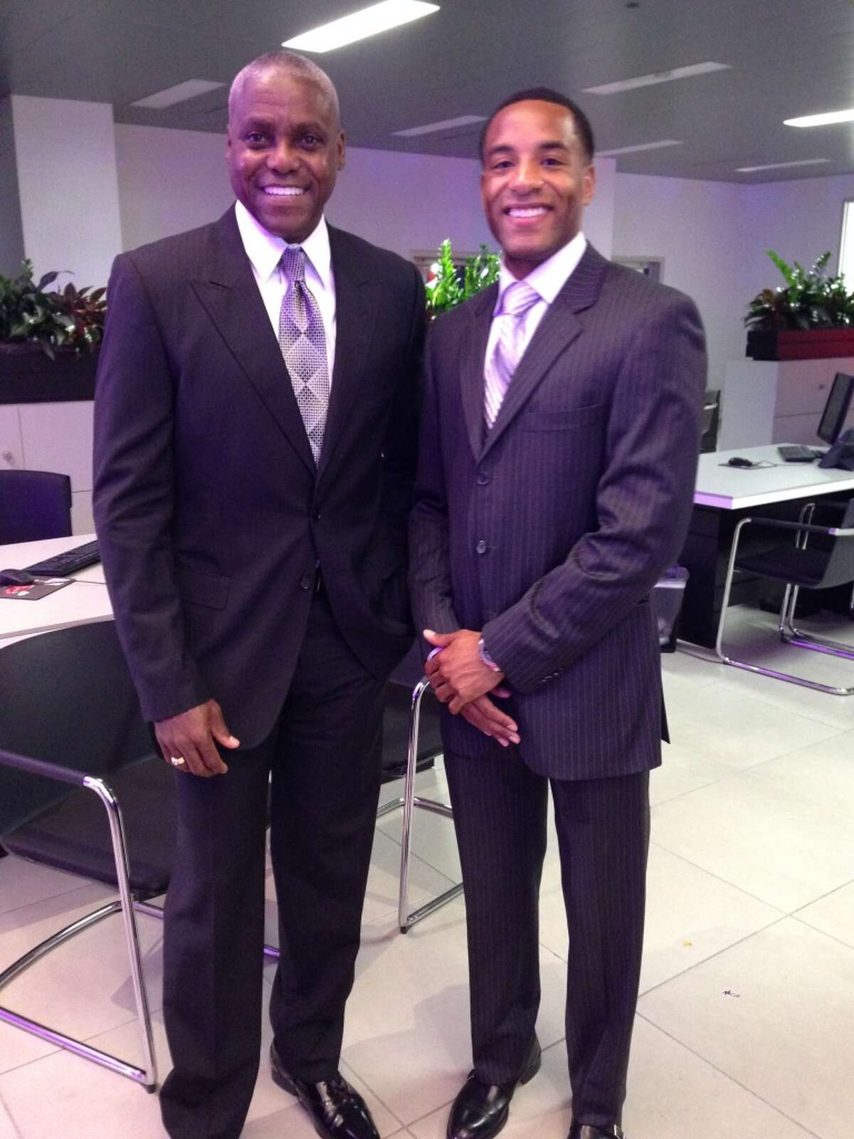 Carl Lewis and Tyrone Smith