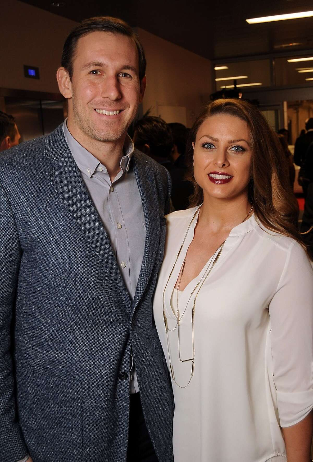 Houston Texan Owen Daniels and his wife Angela (Photo by Dave Rossman/For the Chronicle)