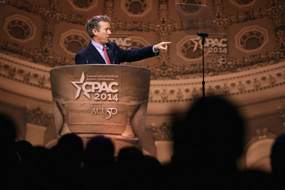 Sen. Rand Paul, R-Ky., emphasized civil liberties instead of social issues like same-sex marriage. Photo: Chip Somodevilla, Getty Images