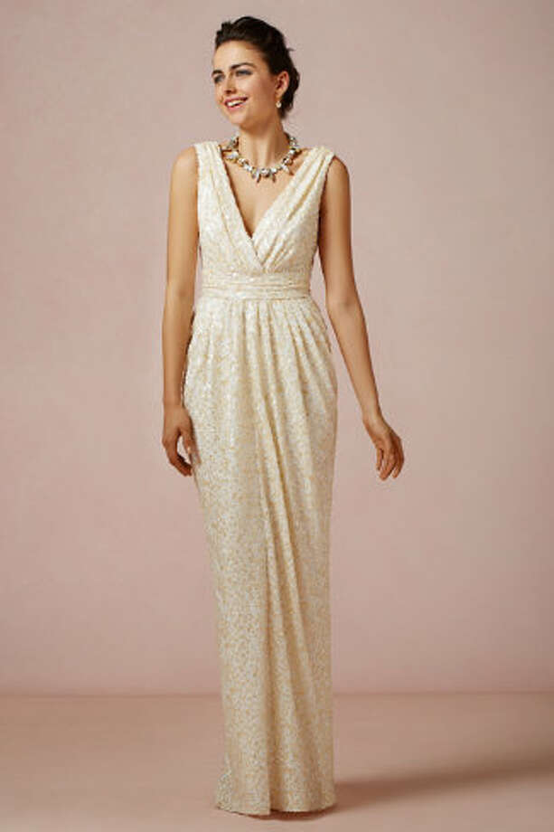 This sequined, Badgley Mischka-designed BHLDN number will make you feel Hollywood glam. Bette Gown, $500, BHLDN.com. Photo: BHLDN