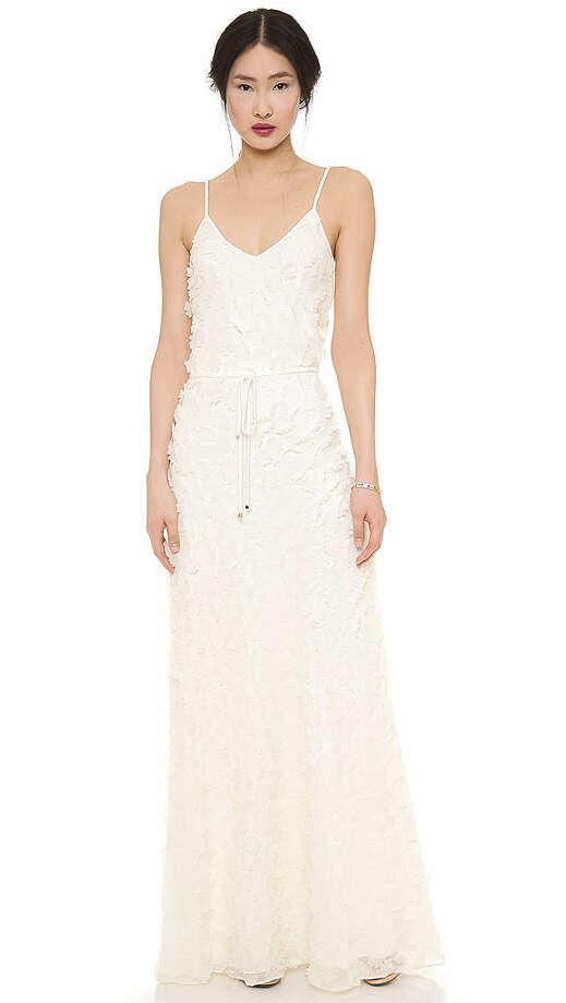 A classic silhouette with unique appliques. ALICE by Temperley Petal Maxi Dress, $710,shopbop.com. Photo: Shopbop