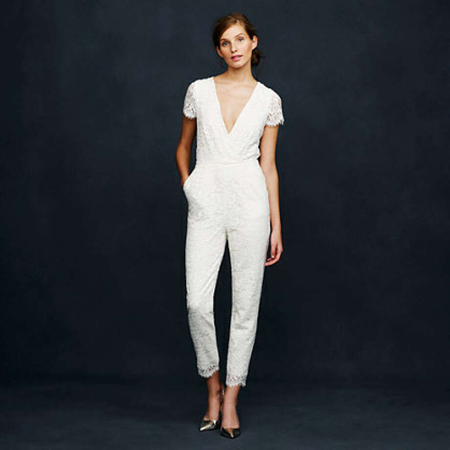 No dress, no problem. This jumpsuit is a stylish alternative, $750, jcrew.com. Photo: J.Crew