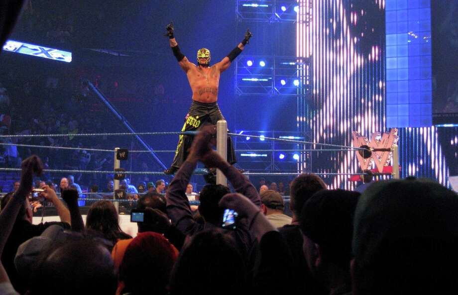 """This file photo shows World Wrestling Entertainment's Smackdown event at Mohegan Sun in Uncasville, Conn. WWE may find a new cable-TV home for its popular """"Raw"""" and """"Smackdown"""" programs by the end of April, Chief Financial Officer George Barrios told Bloomberg News on Thursday. Photo: Christian Abraham, ST / Connecticut Post no sale"""