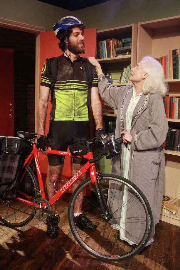 "Jordan Jaffe and Waltrudis Buck star in ""4,000 Miles."" Photo: Gary Fountain, Freelance / Copyright 2014 Gary Fountain."