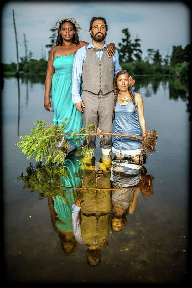 The artists of Cry You One, a collaborative based in Louisiana, will lead workshops and storytelling focused on Gulf Coast restoration at a community salon March 15 at 14 Pews. Photo: Melisa Cardona / ONLINE_YES