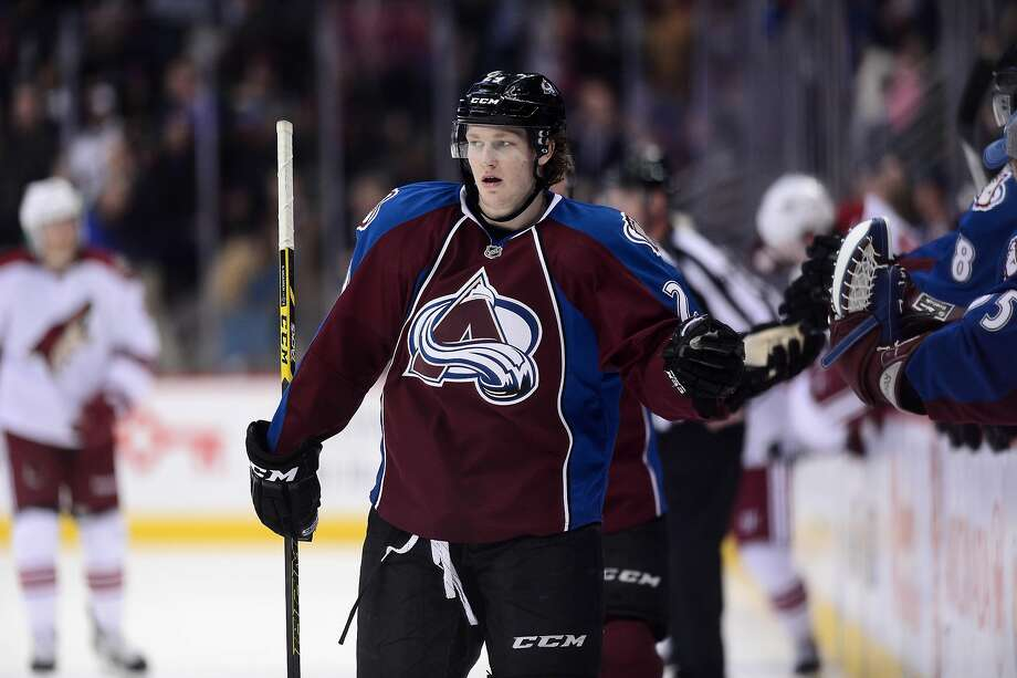 Colorado's Nathan MacKinnon has at least one point in 13 consecutive games. That run breaks a record for 18-year-olds previously held by Wayne Gretzky. Photo: Ron Chenoy, Reuters