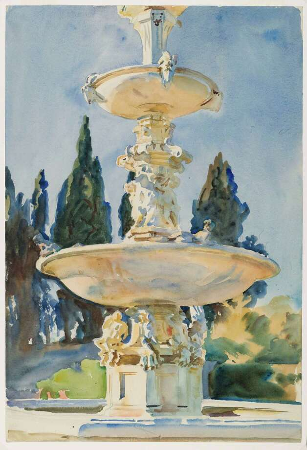 """Sargent's """"In a Medici Villa"""" achieves its effects largely with shadows. Photo: Brooklyn Museum / ONLINE_YES"""
