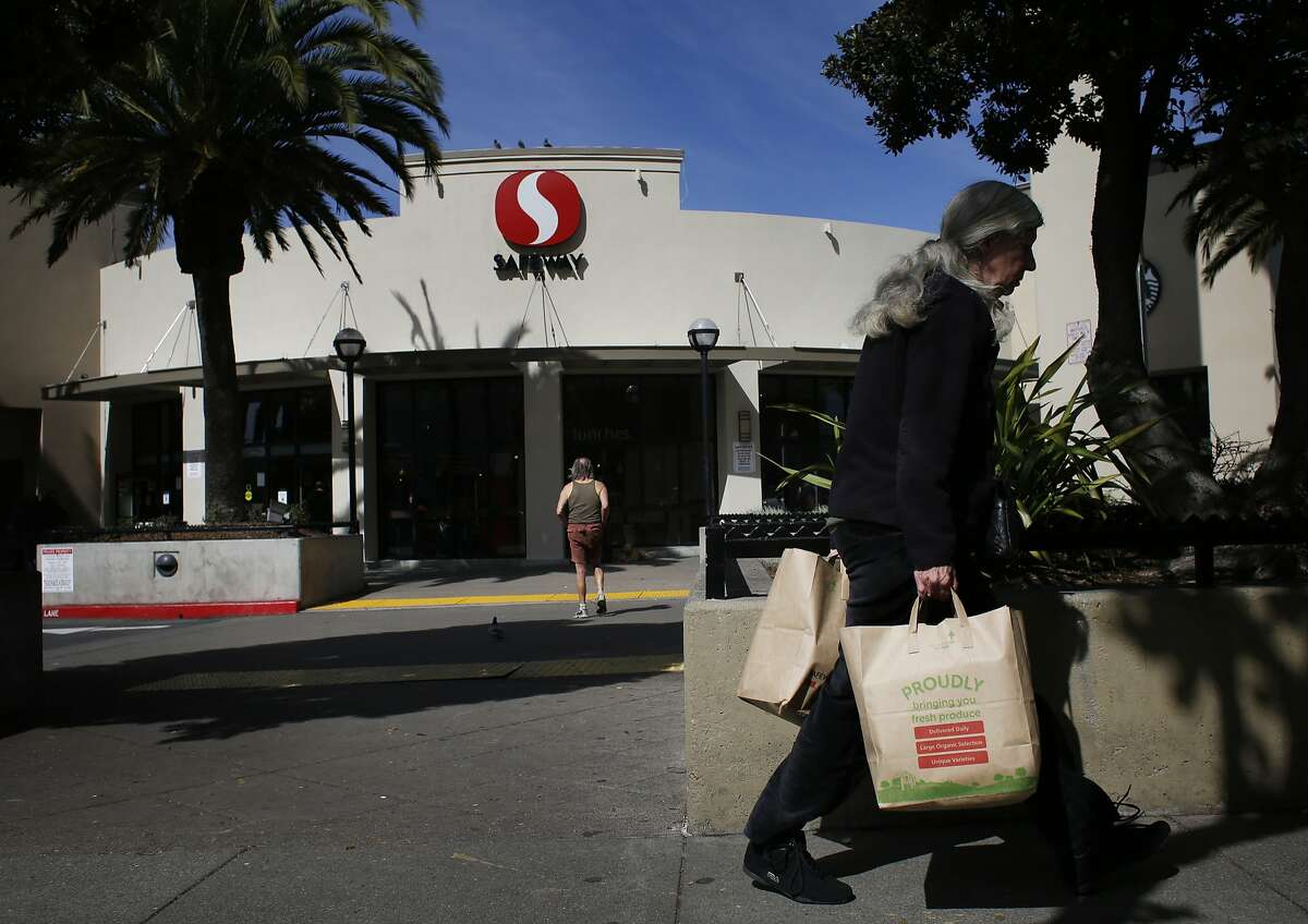 Safeway customers come and go from the store on Market and Church Streets on Friday March 7, 2014 in San Francisco.