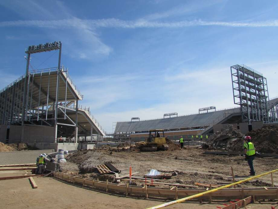 View from the northwest corner of the Cougars' new football stadium. Photo: Joseph Duarte, Houston Chronicle