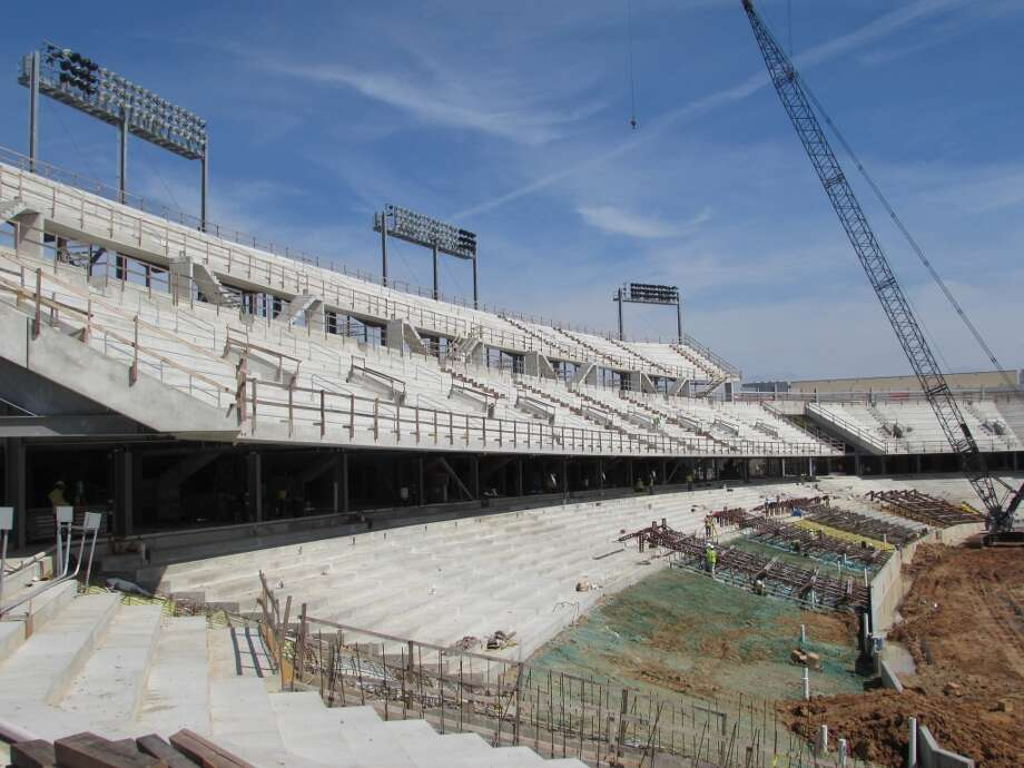 A view of the north side deck at the Cougars' new football stadium. Photo: Joseph Duarte, Houston Chronicle