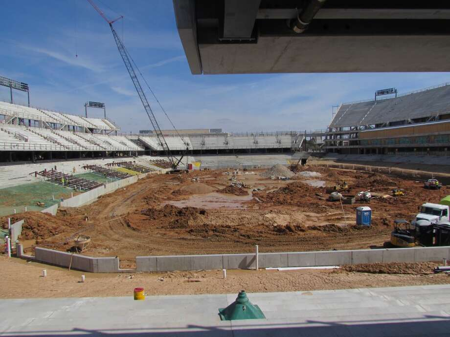 View from the concourse level on the west side of the stadium. Photo: Joseph Duarte, Houston Chronicle