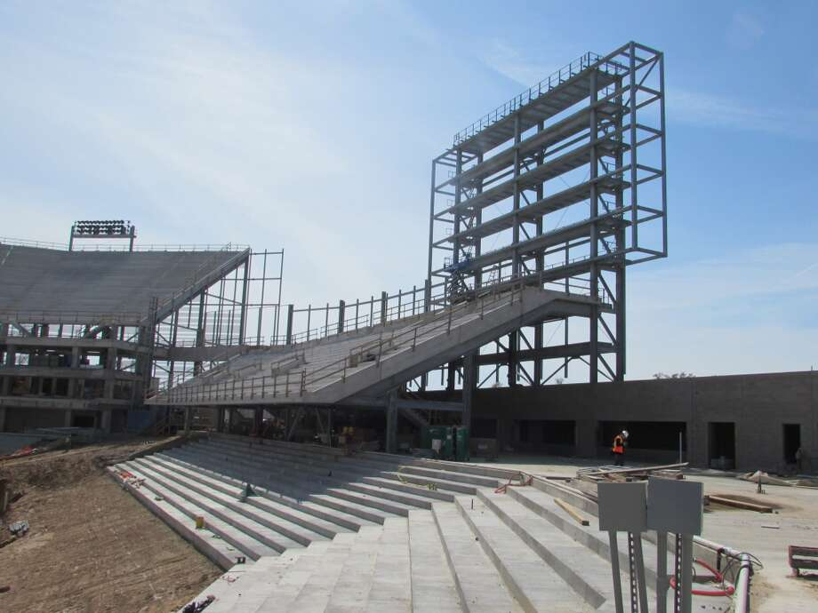 Location of the scoreboard in the west end zone. Photo: Joseph Duarte, Houston Chronicle