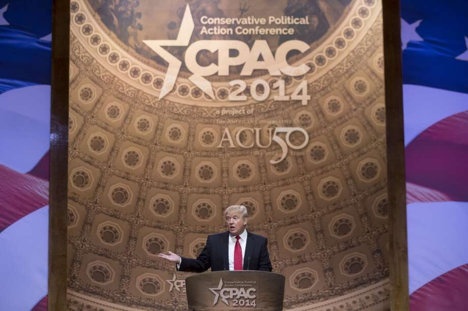 "Business mogul and reality TV star Donald Trump addressed CPAC without a teleprompter and made a brief faus paux on stage: ""We're getting into Jimmy Carter territory, I think, maybe, by next month we will have surpassed the late, great Jimmy Carter."" Jimmy Carter isn't dead. Photo: Andrew Harrer, Bloomberg"
