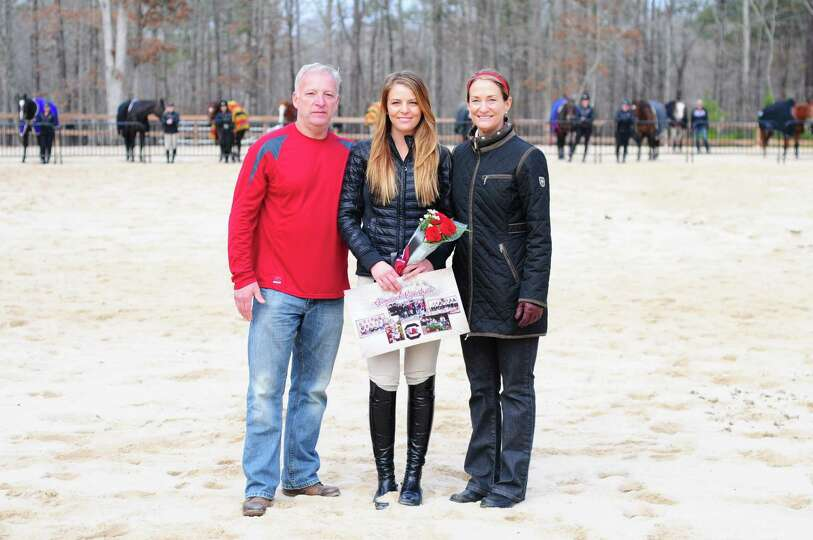 University of South Carolina senior Kelsey Hart of East Greenbush and her parents Brian and Pam Hart