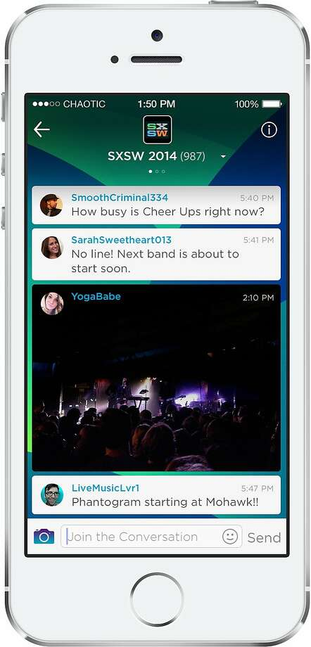 Find and chat with people about any topic that interests you, all on your mobile phone. Join chat rooms where you can be yourself and chat with other people who care about the same things as you. Follow multiple chats at once or one at a time, create your own public or private rooms, and even find people to chat with nearby. Chatting is back. Chat it up. Photo: Banter Chat, Inc.