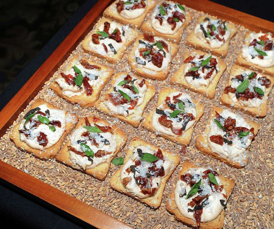 Prosciutto on crackers by Fortina of Armonk, N.Y., during the Greenwich Hospital annual Great Chefs fundraiser at the Westchester Country Club in Rye, N.Y., Friday night, March 7, 2014. Photo: Bob Luckey / Greenwich Time