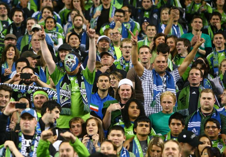 You know you're a Sounders fan if ...... you know all the words to all the fan chants. Photo: Joshua Trujillo, Seattlepi.com