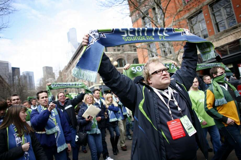 You know you're a Sounders fan if ...... team co-owner Drew Carey is your favorite actor. Photo: Joshua Trujillo, Seattlepi.com