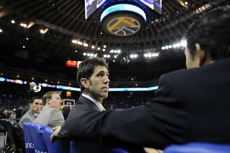Bob Myers, promoted to general manager of the Warriors about two years ago, carries a devotion into his job ingrained by growing up a fan of the team. Photo: Michael Short, Special To The Chronicle