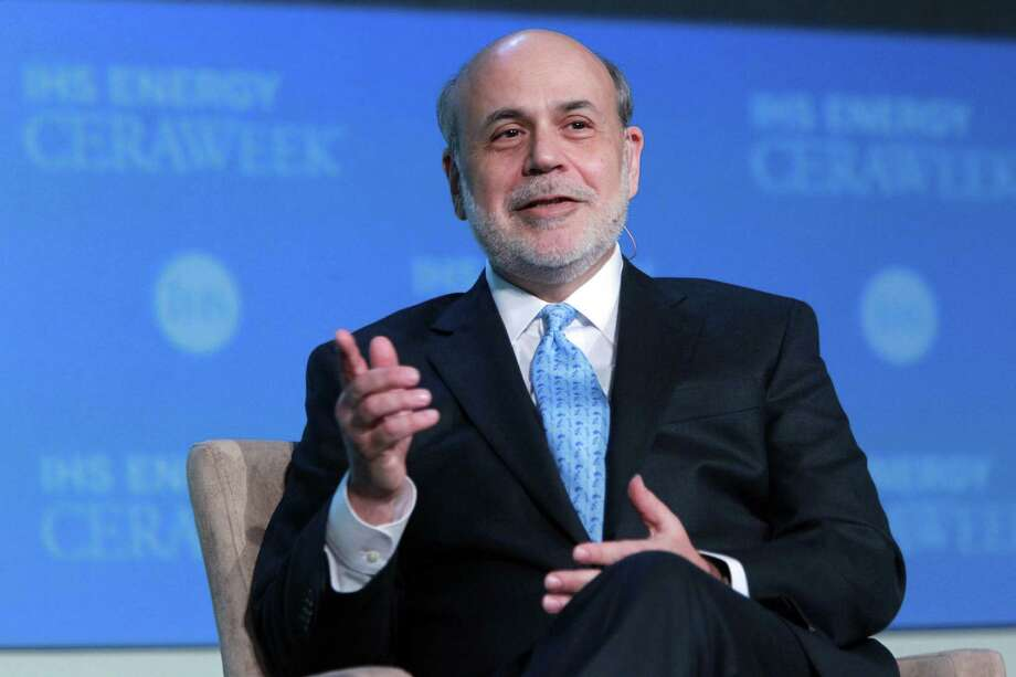 Ben Bernanke told a Houston audience that the surge in energy production is helping the U.S. recover from recession. Photo: Mayra Beltran, Staff / © 2014 Houston Chronicle