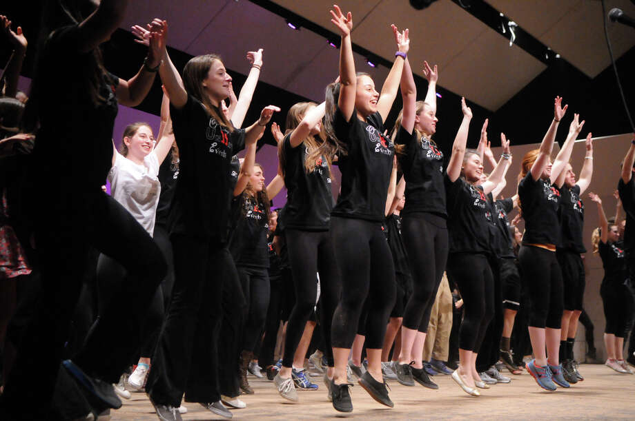 """The Class of 2014 takes the stage during Greenwich High School's """"Senior Variety Show"""" at the school's auditorium in Greenwich, Conn., March 7, 2014. Photo: Keelin Daly / Stamford Advocate Freelance"""