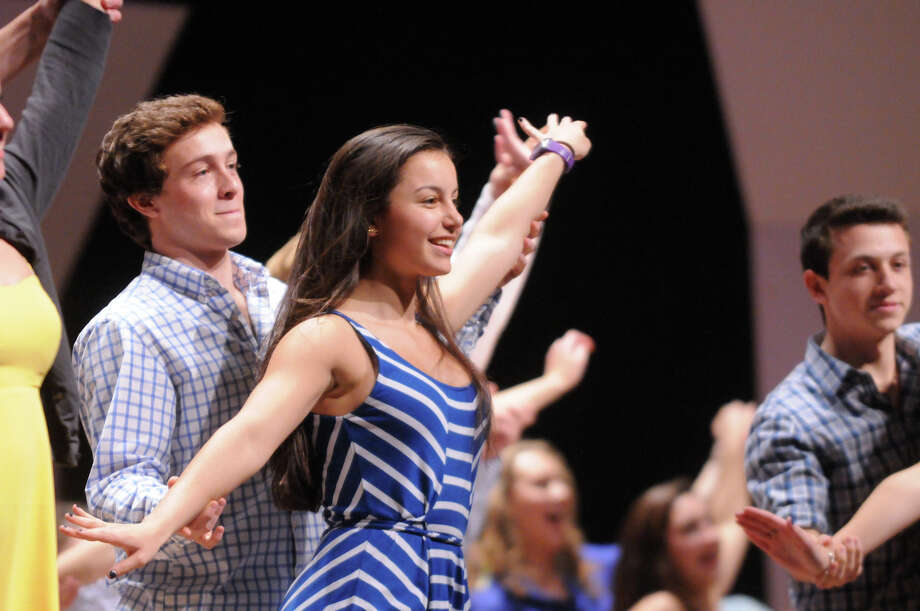 """Greenwich High School's """"Senior Variety Show"""" at the school's auditorium in Greenwich, Conn., March 7, 2014. Photo: Keelin Daly / Stamford Advocate Freelance"""