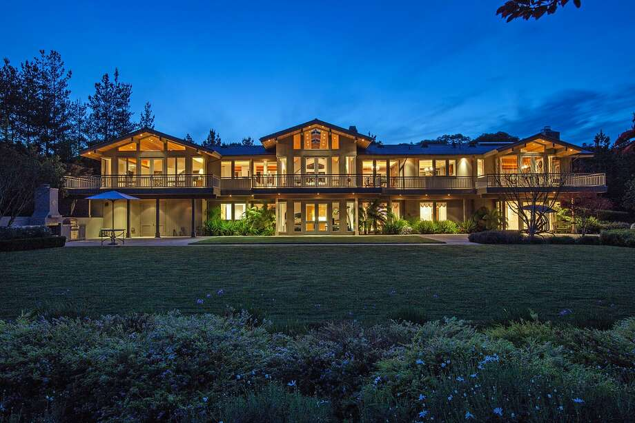 The two-story home features nearly 7,200 square feet of living space.