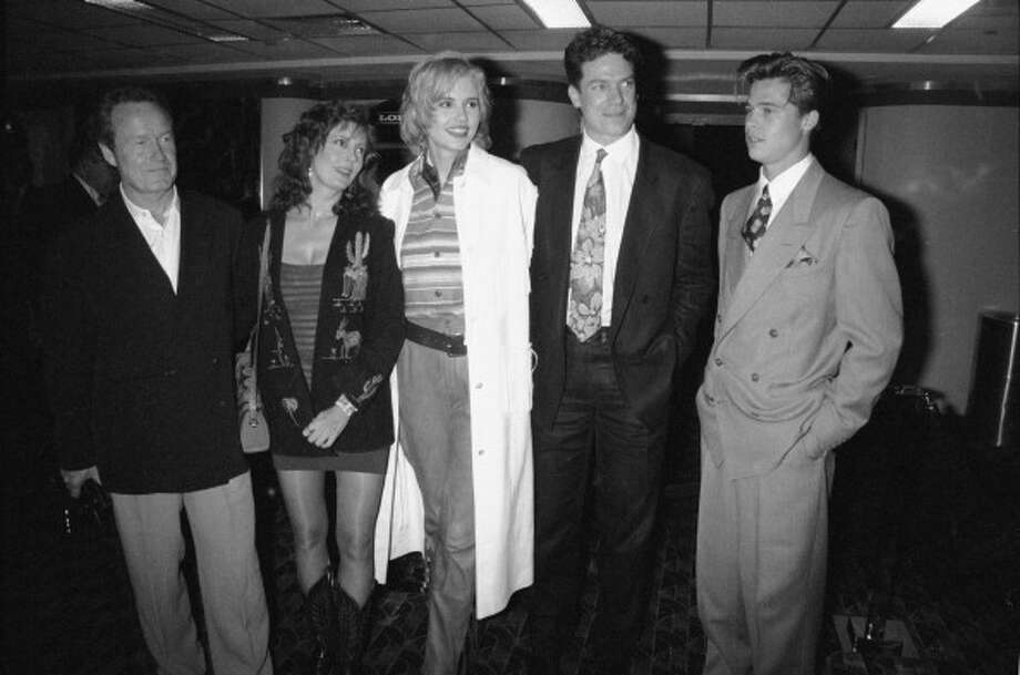 From left to right, director Ridley Scott, and actors Susan Sarandon, Geena Davis, Christopher McDonald and Brad Pitt attend the eastcoast premiere of 'Thelma and Louise' at Loews Theater on 19th Street and Broadway, New York, May 24, 1991. (Photo by DMI/Time & Life Pictures/Getty Images) Photo: DMI, Time Life Pictures/Getty Images / Time & Life Pictures