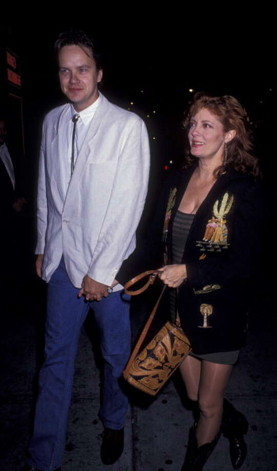 "NEW YORK CITY - MAY 14:  Tim Robbins and actress Susan Sarandon attend the premiere of ""Thelma and Louise"" on May 14, 1991 at Loew's State Theater in New York City. (Photo by Ron Galella, Ltd./WireImage) Photo: Ron Galella, WireImage / 1991 Ron Galella"