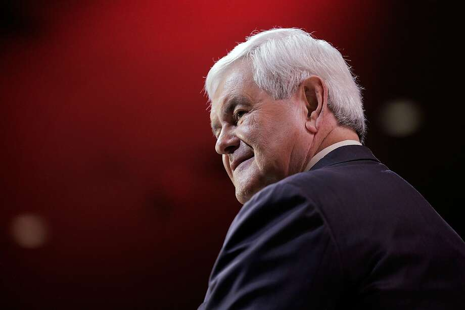 Newt Gingrich talked about the 2016 race at the Conservative Political Action Conference. Photo: T.J. Kirkpatrick, Getty Images