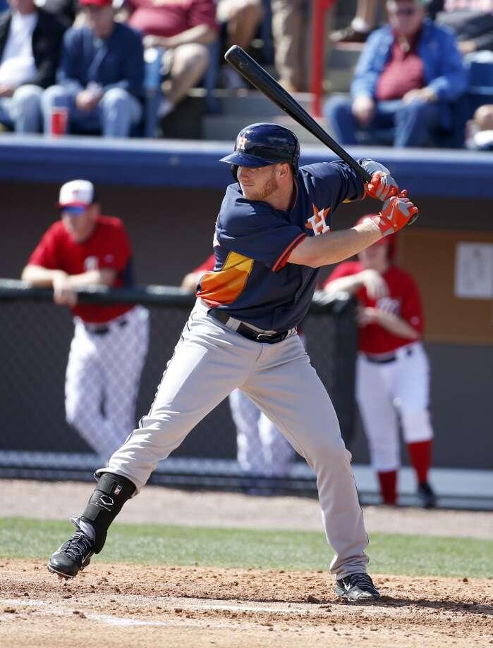 Nationals 8, Astros 5Astros left fielder Robbie Grossman bats. Photo: Alex Brandon, Associated Press