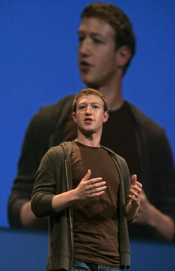 Facebook founder Mark Zuckerberg speaks at F8, Facebook's second annual developers' conference in San Francisco, Calif., on Wednesday, July 23, 2008. Photo by Kim Komenich / San Francisco Chronicle Photo: Kim Komenich, The Chronicle/2008