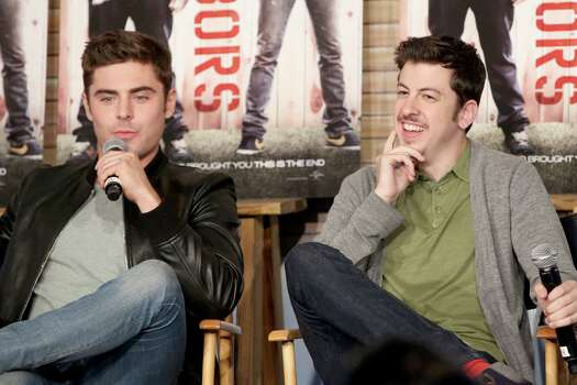 AUSTIN, TX - MARCH 08:  Actors Zac Efron (L) and Christopher Mintz-Plasse attend Funny Or Die Clubhouse + Facebook Pop-Up HQ @ SXSW - Day 1 on March 8, 2014 in Austin, Texas. Photo: Jonathan Leibson, . / 2014 Getty Images