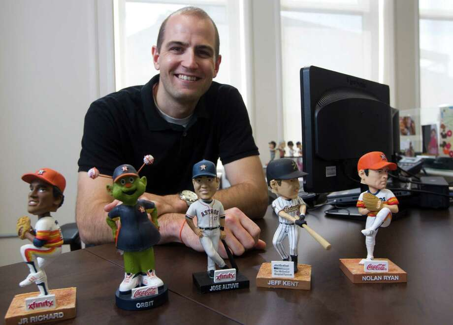 Members of the Astros' front office turn to senior technical architect Ryan Hallahan for the technological tools crucial in baseball's new world of analytics. Photo: J. Patric Schneider, Freelance / © 2014 Houston Chronicle